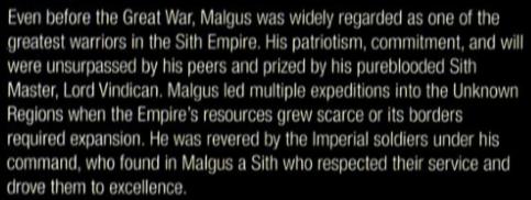 Darth Malgus Respect Thread One_of10